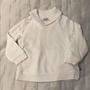 Splendid Baby Shawl Collar White Sweatshirt
